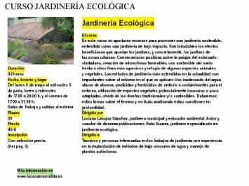 Entorno escorial curso de jardiner a ecol gica en la casa for Jardineria ecologica