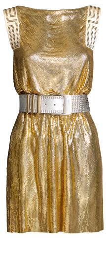 vestidos dorados cortos fiesta