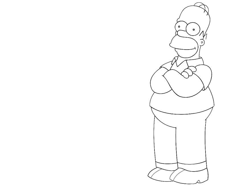 printable-homer-simpson-character-coloring-pages