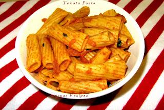 indian style tomato pasta  - indian pasta recipes - italian food