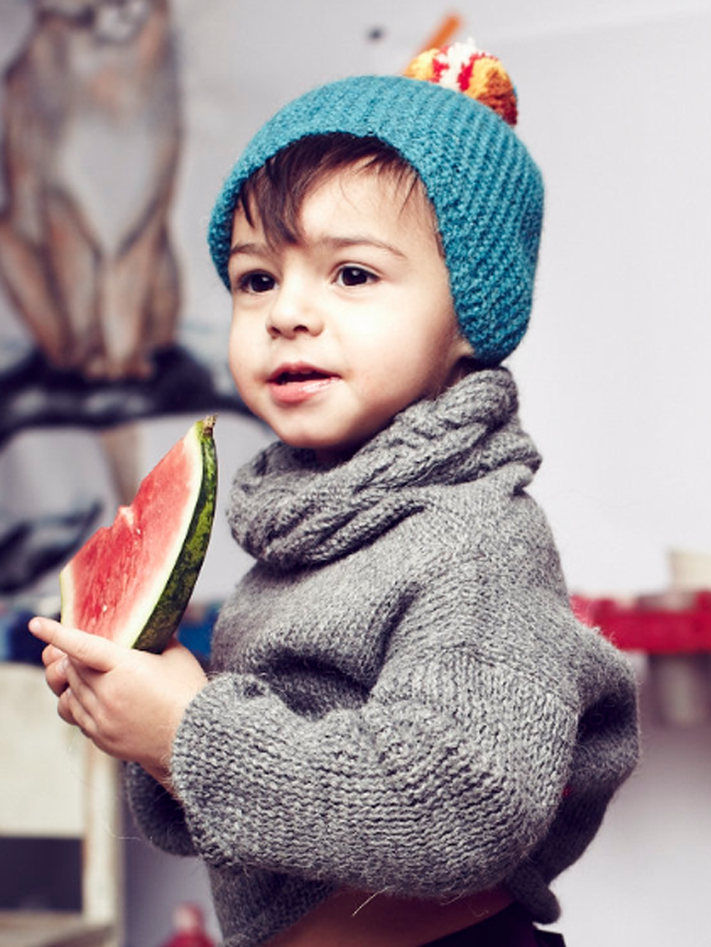 Knit accessories for baby/toddler by Cabbages and Kings AW14 - fair trade