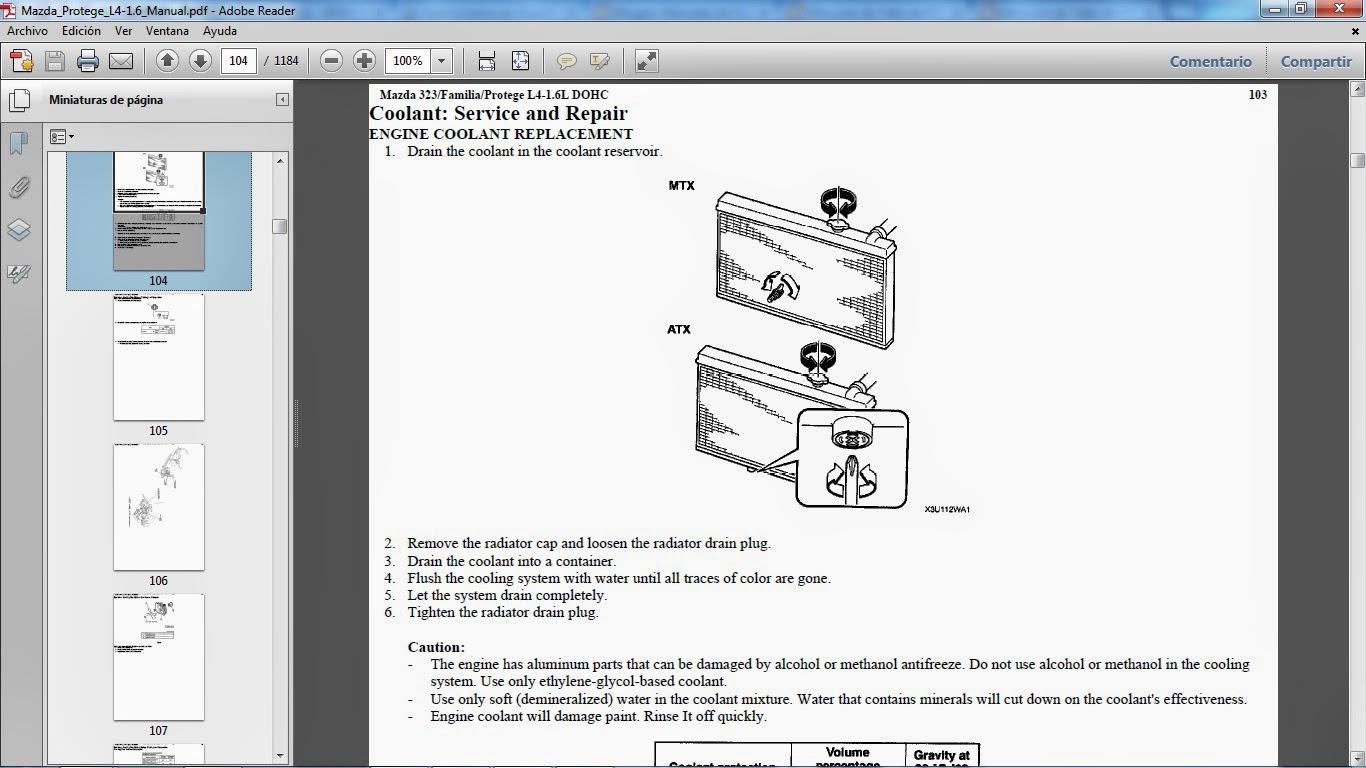 Manuales De Taller De Mazda  Mazda 323    Familia    Protege