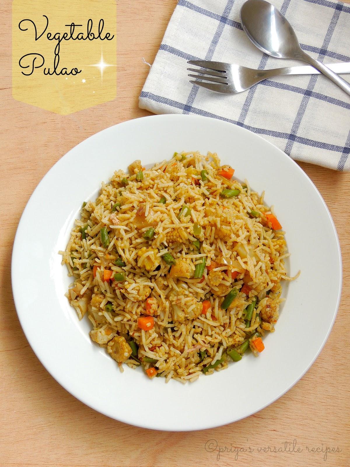 Vegetable Pulao Recipe — Dishmaps