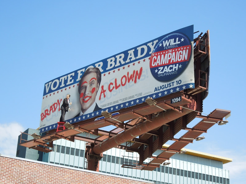 Campaign Brady Clown special billboard