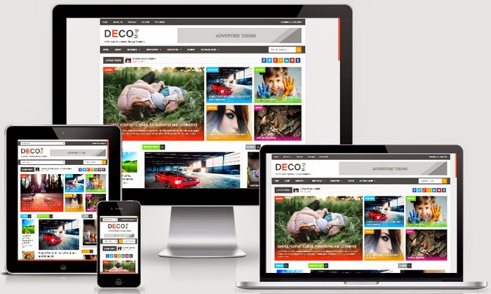 Deco Mag Responsive Blogger Template