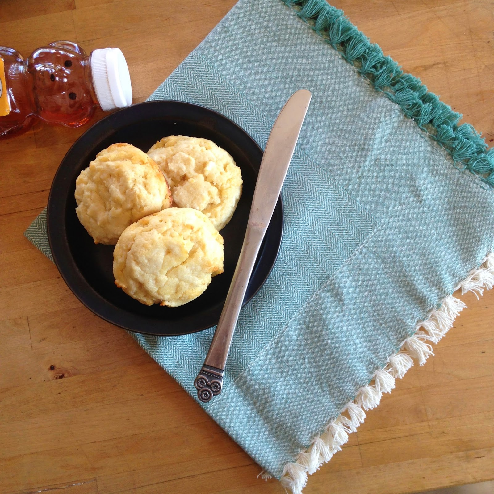 Simply Healthy Living's biscuit recipe.