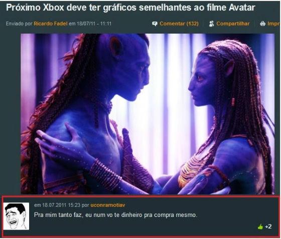Proximo Xbox deve ter graficos parecidos com Avatar o filme...