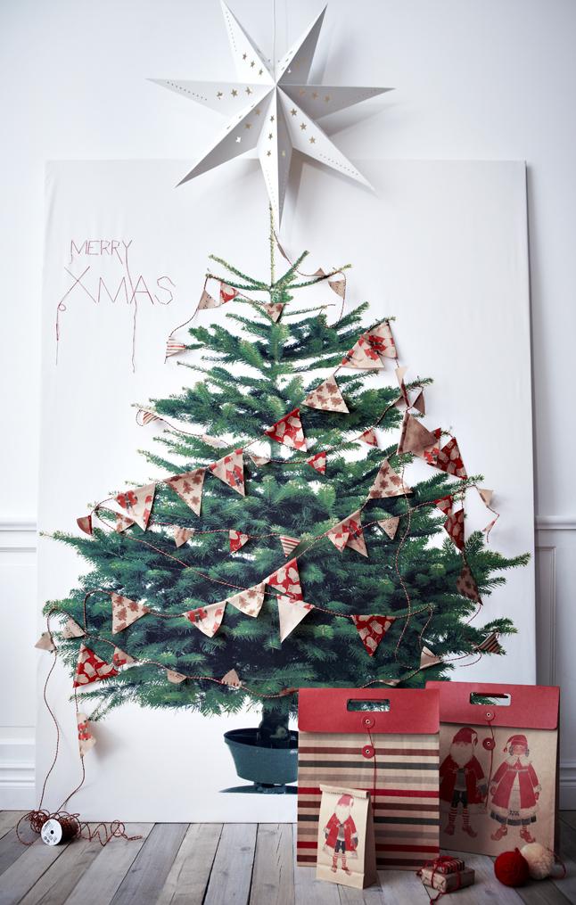 deco navidad la tela del rbol de navidad de ikea - Arbol De Navidad De Tela