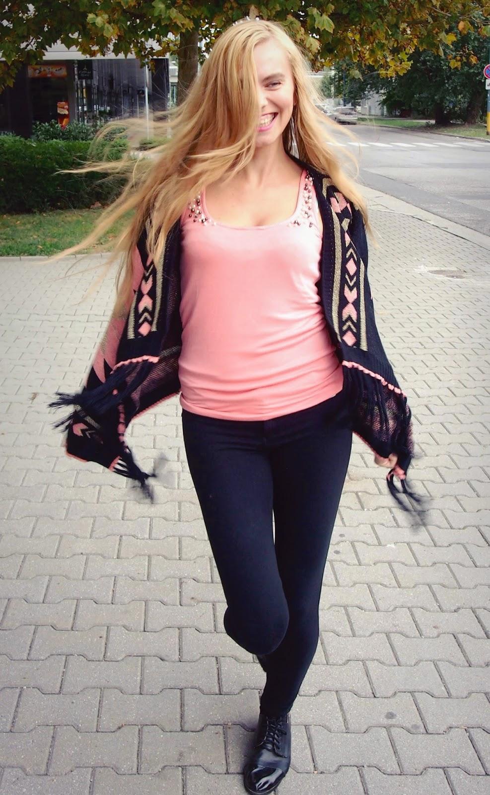 ružový#cardigan#sveter#recenzia