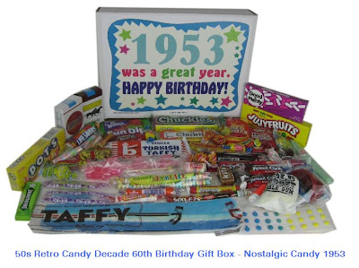 50s Retro Candy Decade 60th Birthday Gift Box - Nostalgic Candy 1953