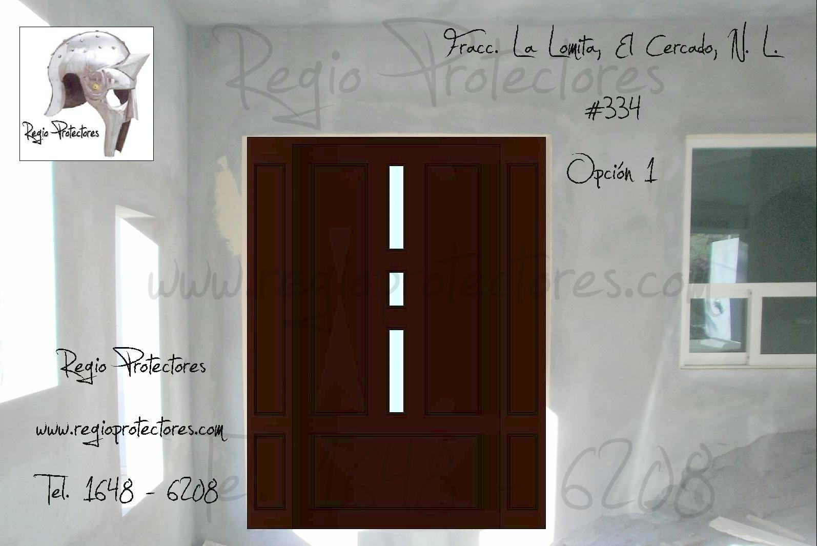 puerta principal modelo regina el cercado opciones y