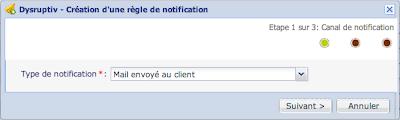 Création d'une règle de notification
