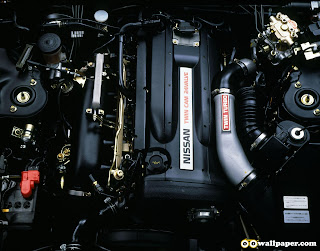 Engine of  Nissan car