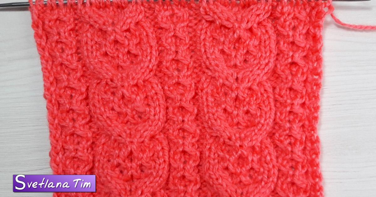 Вязание на спицах узоры с шишечками