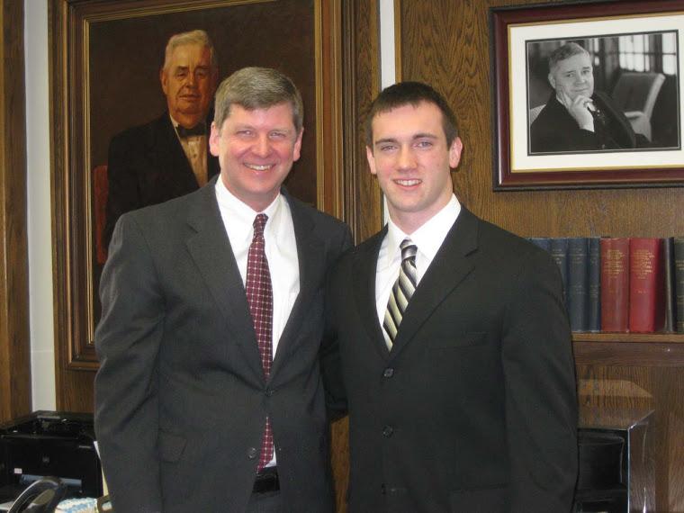 Michael with Pres. Rasband
