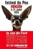 11ÈME FESTIVAL DU PEU, BONSON, ALPES-MARITIMES - 5 au 21 JUILLET 2013