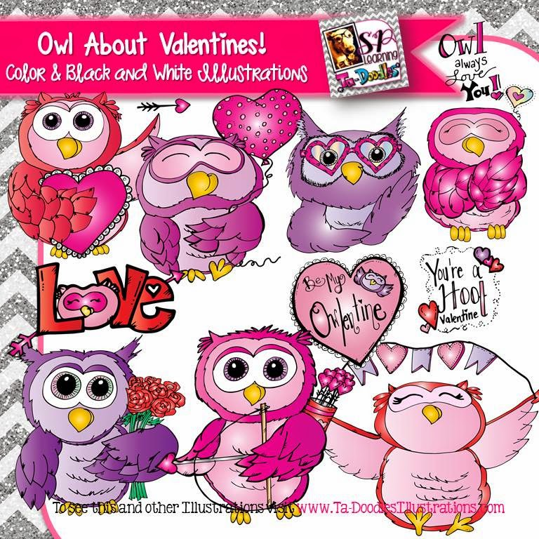 http://www.teacherspayteachers.com/Product/Valentines-Day-Owls-Clip-Art-1615770