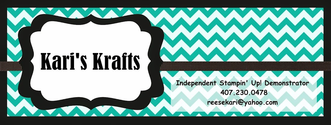 Kari's Krafts - Independent Stampin' Up! Demonstrator - kdowning9678@yahoo.com