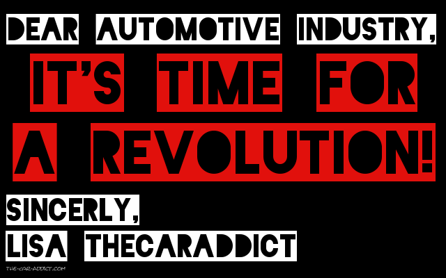 Its Time for an Automotive Revolution