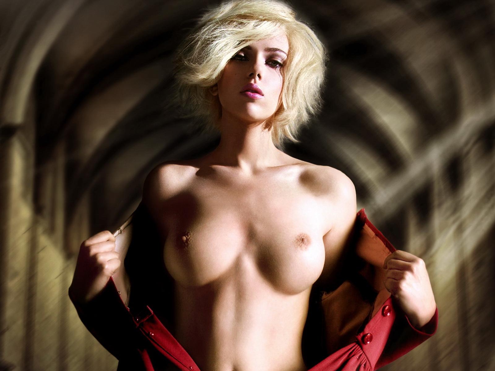 Scarlett Johansson Beauty Topless Hq