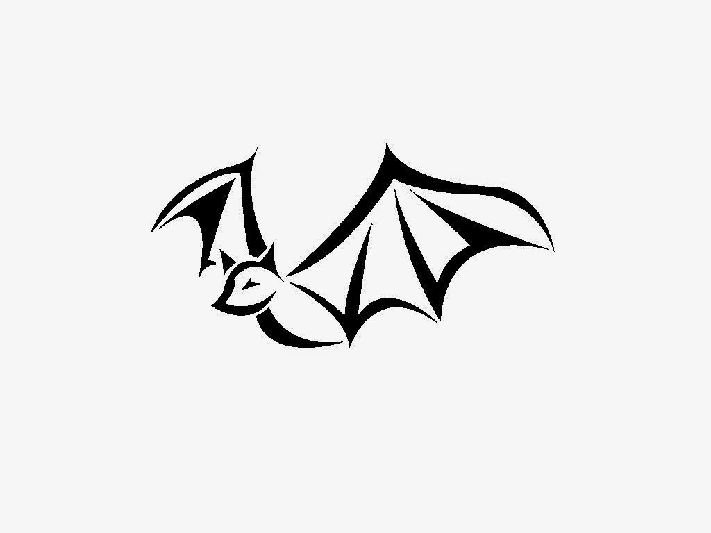 Angelina jolie tattoos bat tattoo desing photo - Dessin tribal simple ...