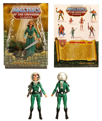 San Diego Comic-Con 2011 Exclusive Queen Marlena Masters of the Universe Action Figure Packaging & Captain Glenn, Heroic Galactic Adventurer Action Figure
