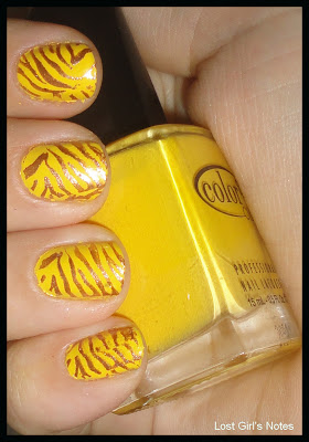 tiger mani yellow with golden stripes