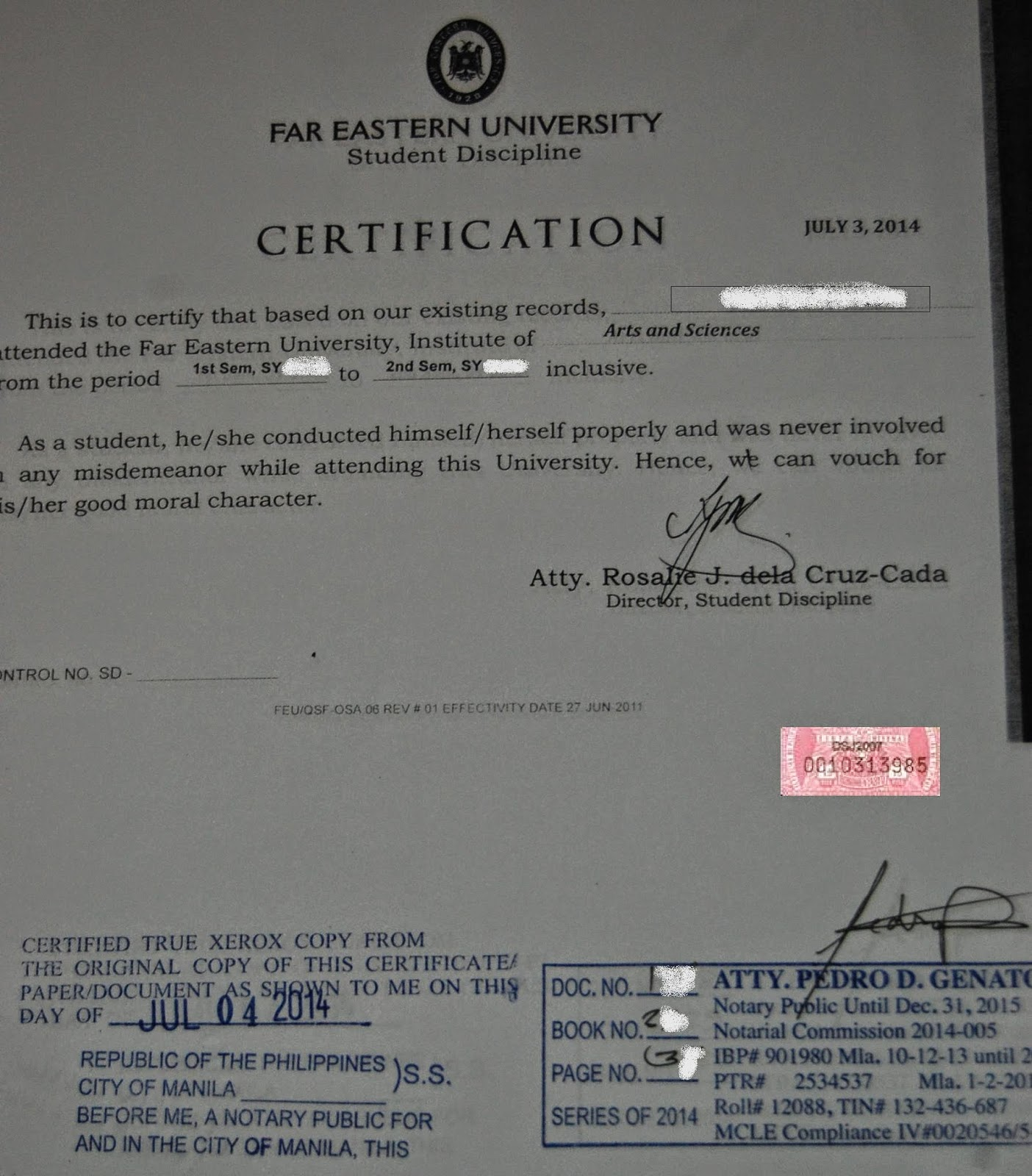 Philippine psychometricians licensure exam reviewer sample of sample of a school certificate of good moral character altavistaventures Gallery
