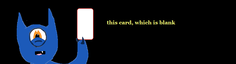 this card, which is blank