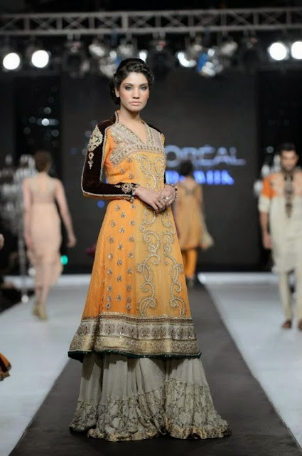 Paris Bridal Week New 2013-2014 Bridal Dresses Collection For Women And Girls Fashion By Asifa And Nabeel