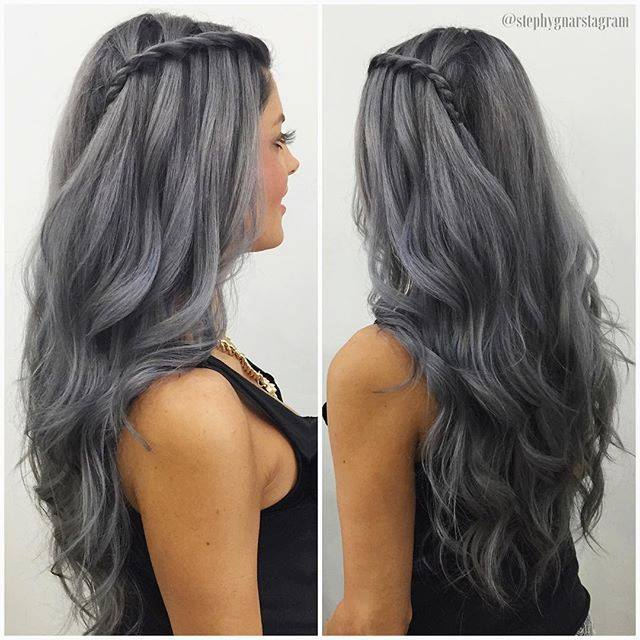 how to get silver hair from dark brown