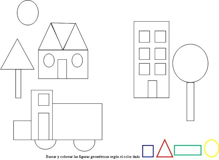 Dibujos Para Colorear De Figuras Geometricas