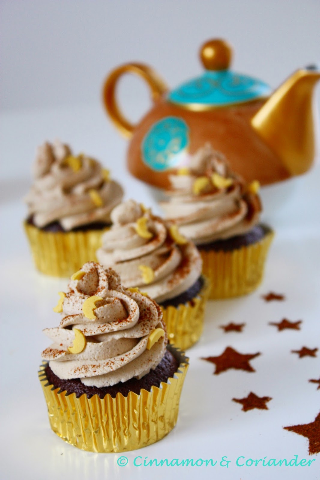 Arabische Mocca Cupcakes mit Cream Cheese Frosting