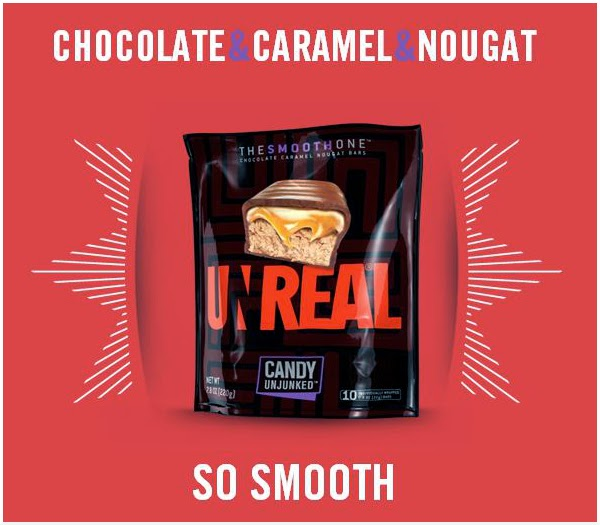 CLICK to order UNREAL chocolate caramel nougat bars from Amazon.