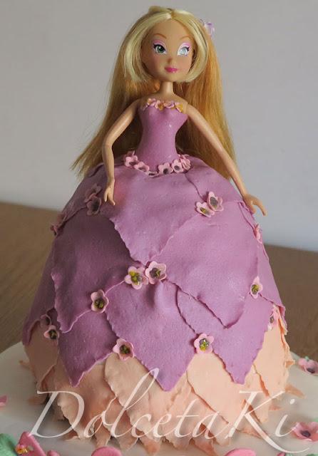 torta vestito winx flora