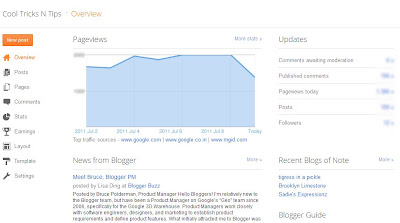 New Blogger Dashboard Design by Google