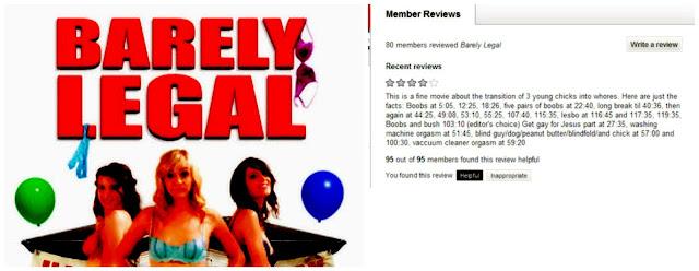 Barely Legal está no Netflx. Um filme com muitas mamas.