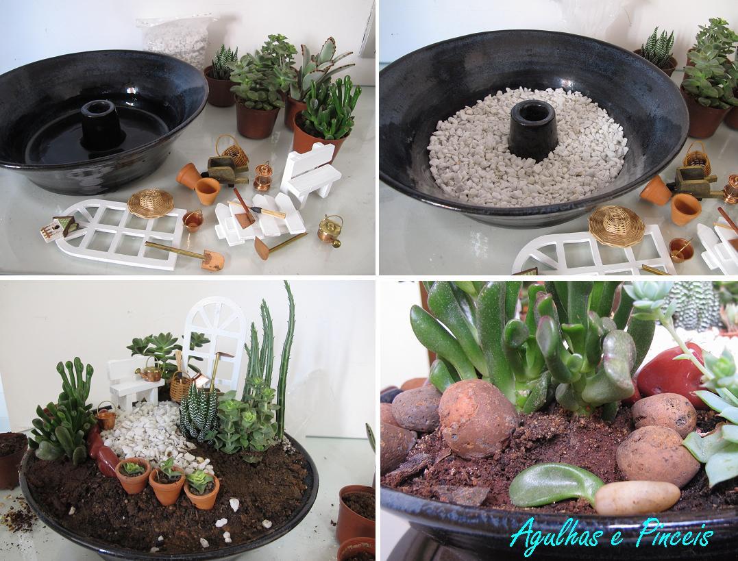 mini jardim japones em vasosPara este mini jardim eu usei a base de