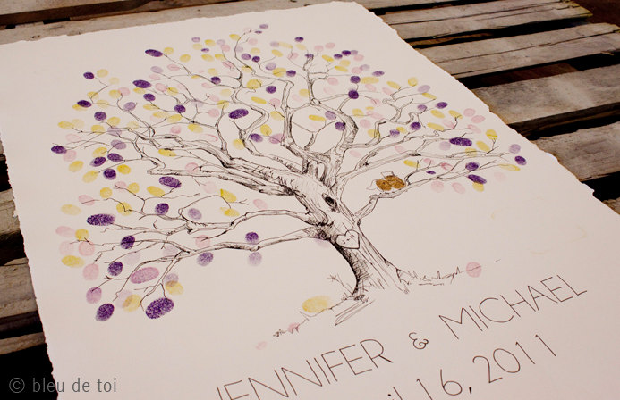Fly Me to the Moon: Guest Book Alternative: The Fingerprint Tree