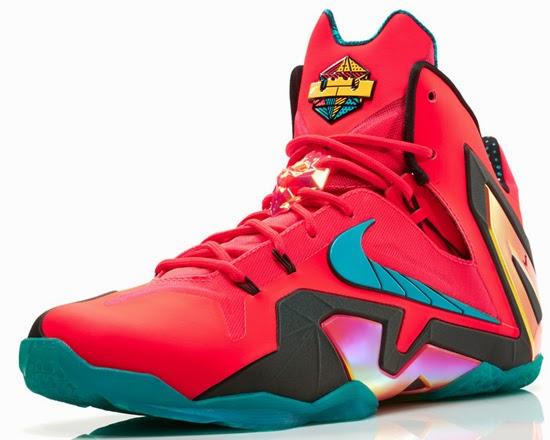 Nike LeBron 11 Elite \u0026quot;Hero\u0026quot; Laser Crimson/Black-Sport Turquoise: