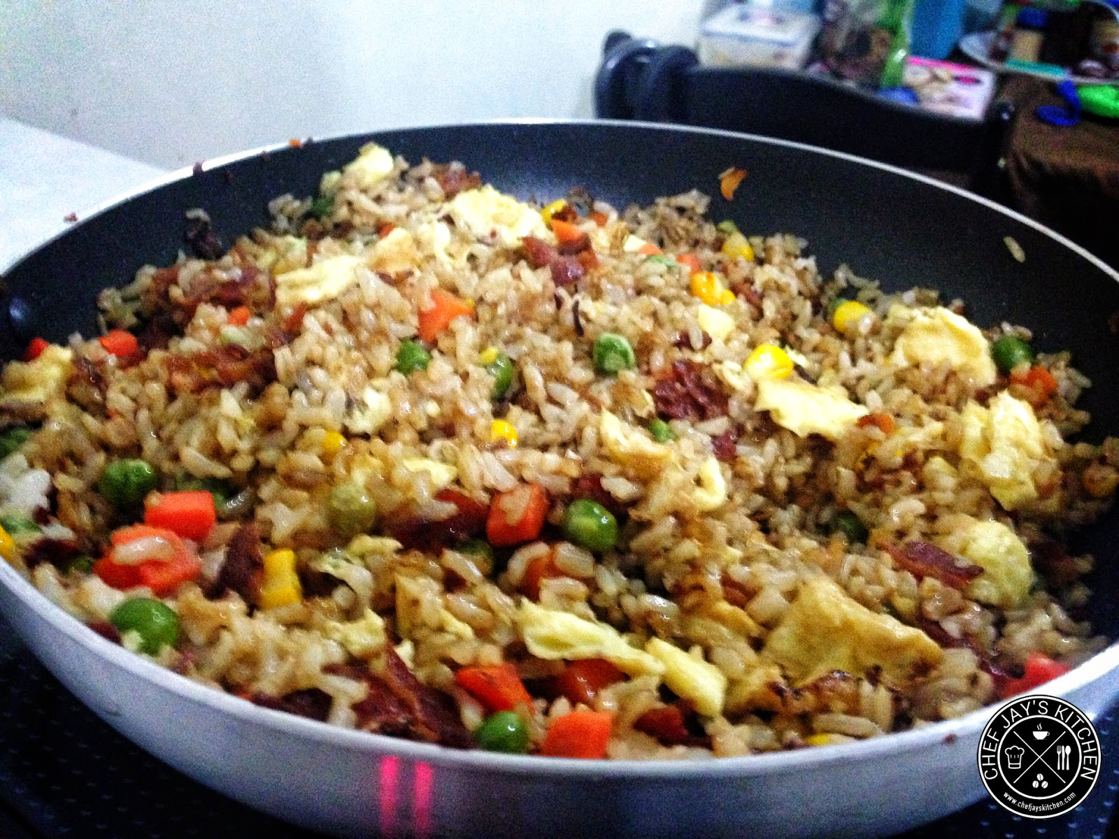 Chinese-Style Brown Bacon Fried Rice Recipe
