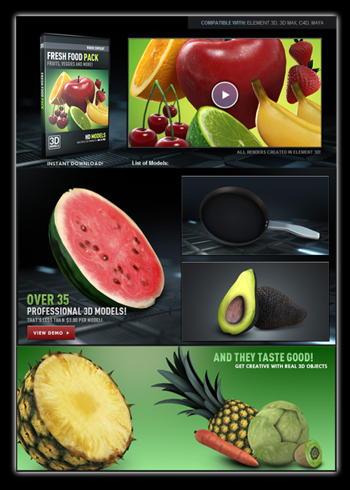 Video Copilot - Fresh Food Pack
