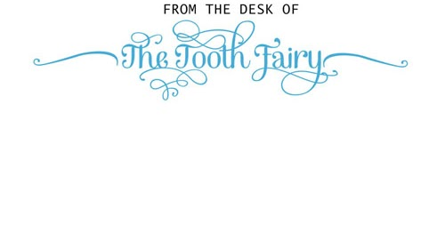 Things I Do When I M Bored Tooth Fairy Letterhead