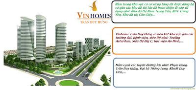 Giao thông thuận lợi tại chung cư Vinhomes Trần Duy Hưng