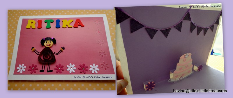 Life S Little Treasures Quilled Birthday Girl Popup Card