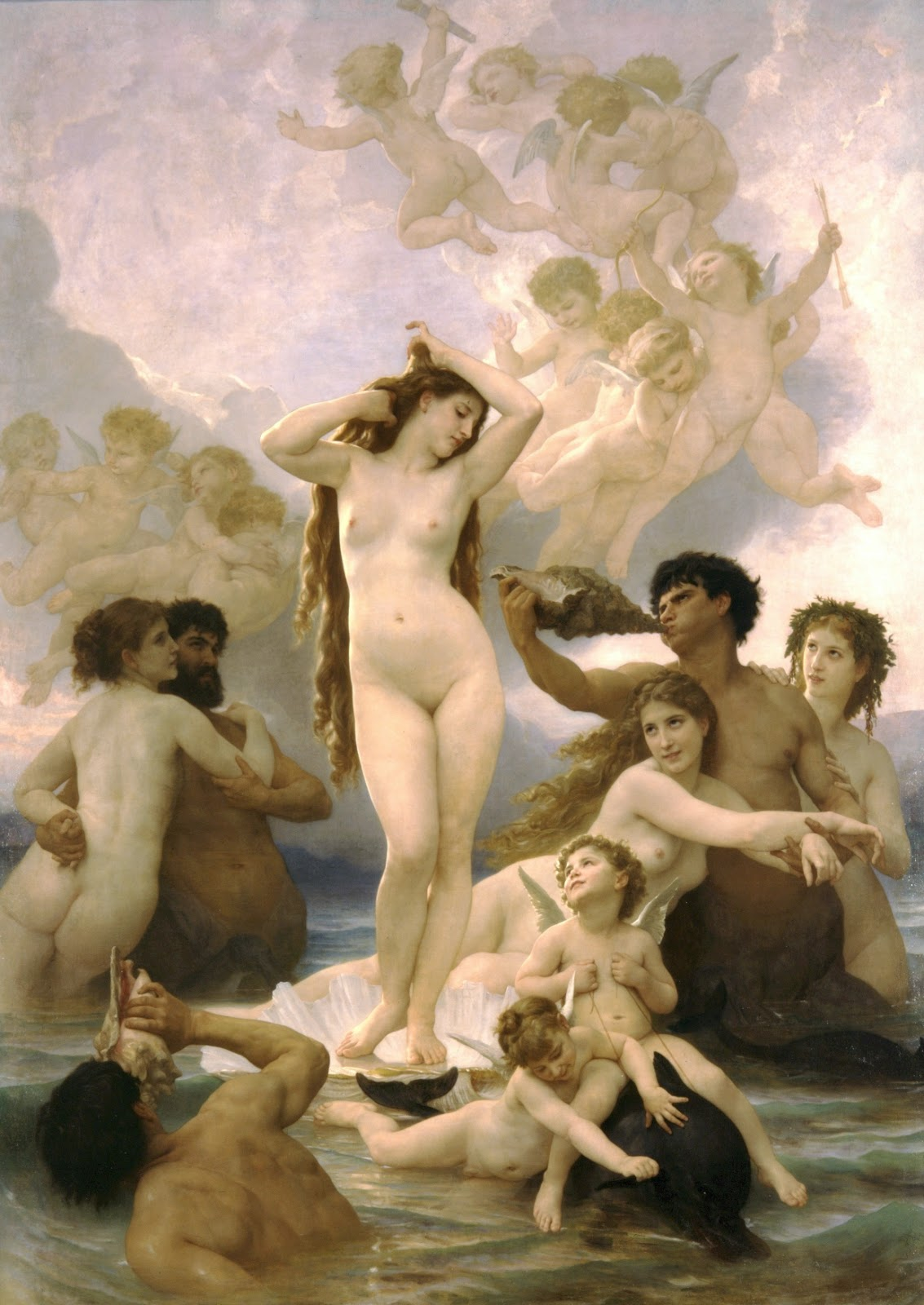 William-Adolphe Bouguereau, La Naissance de Vénus (1879)