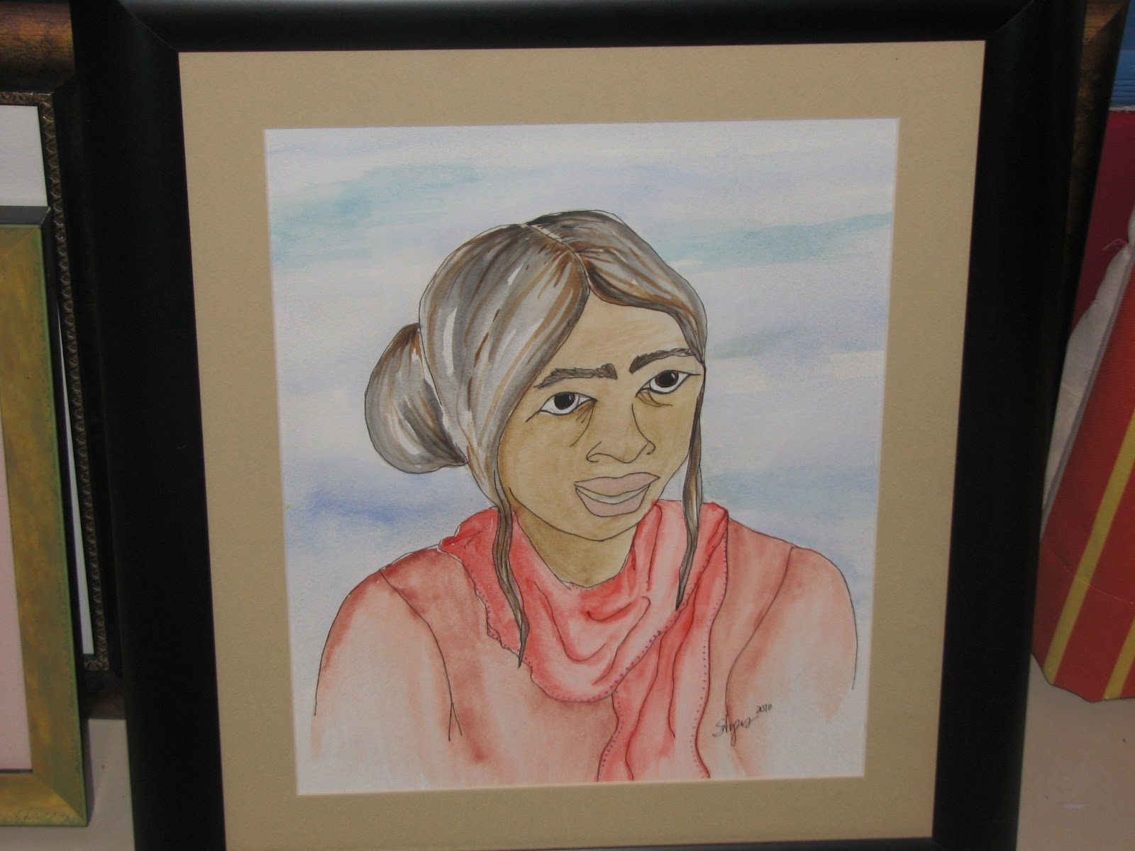 Watercolor painting of Indian Woman by Stephanie Ayers