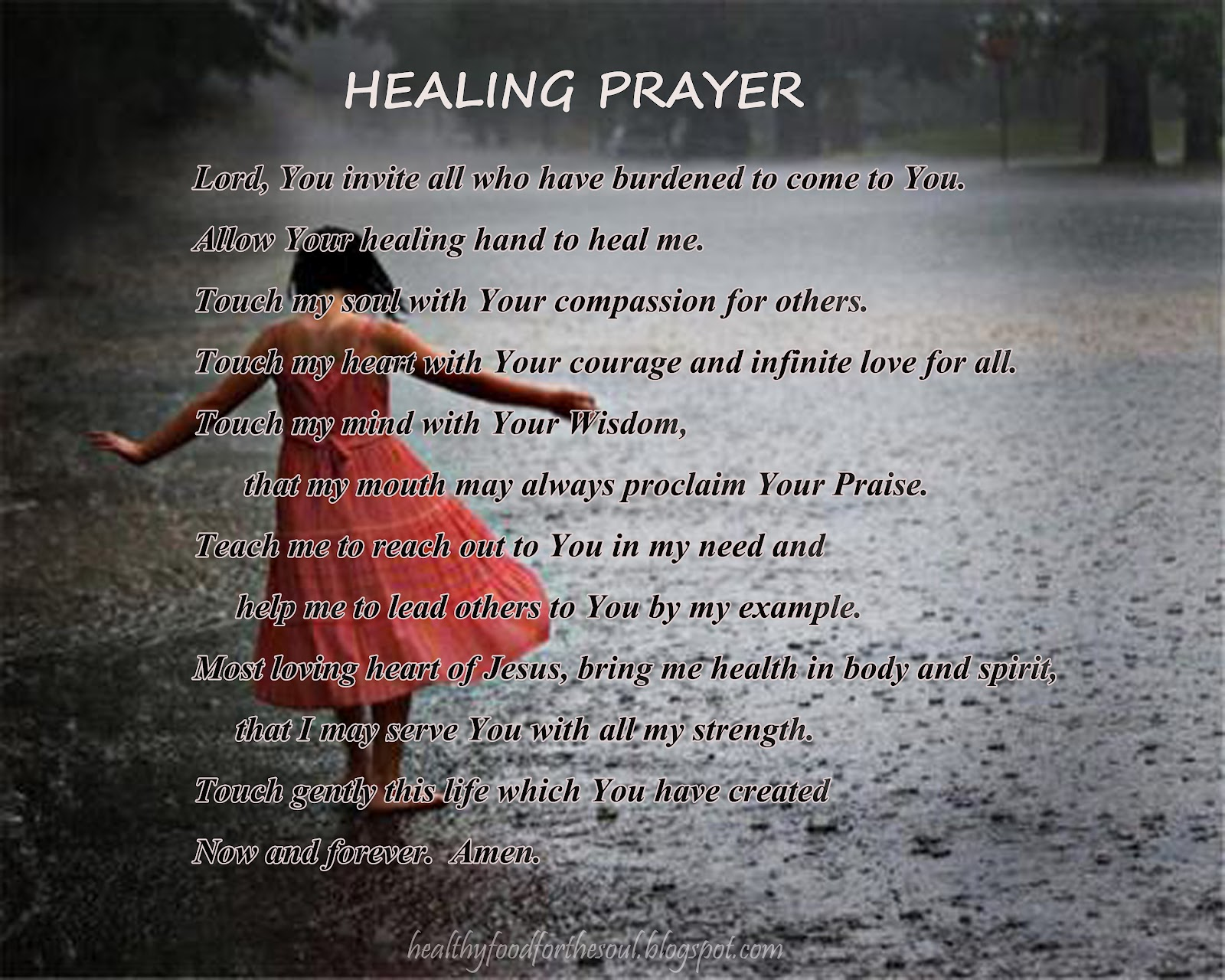 Prayer quotes for healing a friend