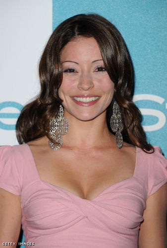 Emmanuelle Vaugier wearing Jenny Dayco earrings