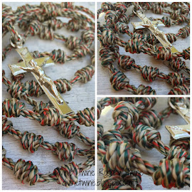 Christmas Camouflage Twine Rosary